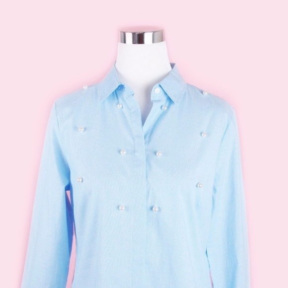 7eab26016 Jones New York Tops | Pearl Embellished Button Down Shirt | Poshmark